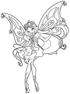 A Smiling Beautiful Winx Club Coloring Pages