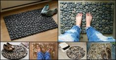 Whether you need a mat for your porch or bathroom, making your own river rock doormat is a great idea.    http://theownerbuildernetwork.co/easy-diy-projects/diy-river-rock-doormat/