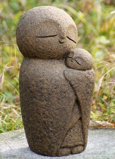PSL Love Parent and child Ksitigarbha Handmade statue buddha jizo in Collectibles, Cultures & Ethnicities, Asian Sculptures Céramiques, Sculpture Art, Love Parents, Little Buddha, Pottery Sculpture, Garden Statues, Stone Carving, Clay Projects, Stone Art