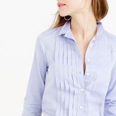 Thomas Mason® for J.Crew tuxedo shirt in blue : Suiting Shirts | J.Crew