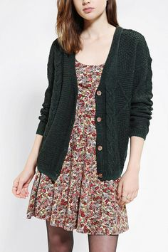 Comfy, slouchy cardigan from Coincidence & Chance in soft cable-knit.