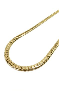 """This is a 14k gold plated Miami curb chain. Available in 24"""" and 30"""". Product is made in Korea."""