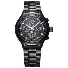 US $95.00 - IK watch men Luminous Three Multifunction Sub Dial Week Calendar Month Hours Automatic Watch SelfWind Hardlex Window Men Watches