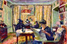 The Bridge Party / Edouard Vuillard - circa 1911