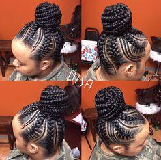 Flawless braid bun via @nisaraye  Read the article here - http://blackhairinformation.com/hairstyle-gallery/flawless-braid-bun-via-nisaraye/