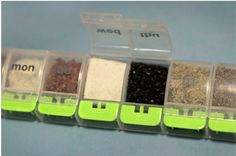Carry spices in a pill box.  Great for camping or meals on the go.