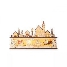 LED light up wooden christmas wonderland Christmas Wonderland, Dusk, Light Up, Jay, Scene, Candles, Handmade, Hand Made, Candy