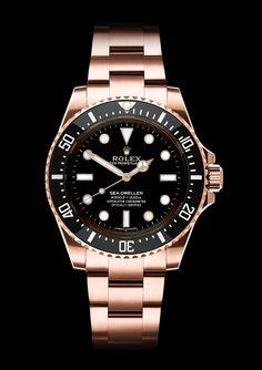 Rolex Sea-Dweller 4000, no date, Rose Gold. By designer Niklas Bergenstjerna.