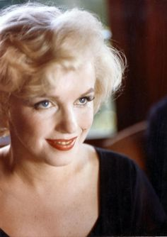 Marilyn Monroe 1958 at a press conference for Some Like It Hot