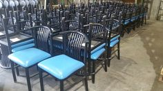 Used metal chair/select pic to e-mail for quotes, pricing and product details/ by AIMCO Equipment Company Used Chairs, Metal Chairs, The Selection, Quotes, Blue, Furniture, Home Decor, Metal Cafe Chairs, Quotations