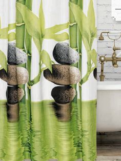 Bamboo zuhanyfüggöny Bamboo, Curtains, Shower, Prints, Home Decor, Rain Shower Heads, Blinds, Decoration Home, Room Decor