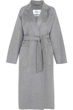 Max Mara - Marlo Belted Cashmere Coat - Gray - UK16