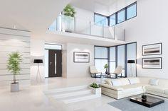 35 Amazing Interior Design Ideas For Modern Loft < moeshouse Interior Design Services, Interior Design Living Room, Living Room Designs, Interior Ideas, Dream Home Design, Modern House Design, Modern Loft, White Houses, Home Fashion