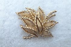 Vintage designer signed Crown Trifari textured by MeyankeeGliterz, $10.50
