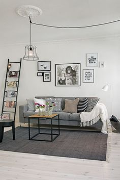 Skandináv lakásdekoráció ötletek - 63nm-es, kétszobás lakás