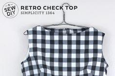 DIY Retro Check Top – Simplicity 1364 Sew DIY