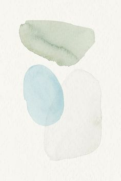 Download premium vector of Blue and green watercolor patterned background