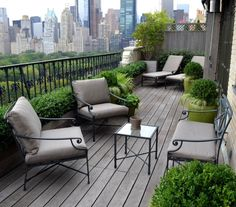 outdoor balcony Small Balcony Design, Pictures, Remodel, Decor and Ideas - page 10 Serenity Garden, Small Balcony Garden, Patio Design, Terrace Design, New York Penthouse, Garden Design
