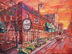 """""""El Charro Steakhouse,  Tucson AZ"""" by Lisa Kanouse; 24x34osd $585"""