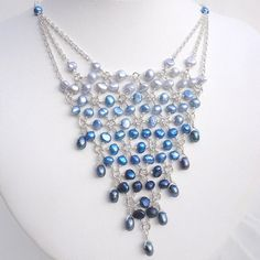 Graduated Blue Beadmail Necklace by astraeadesigns, via Etsy. $47.00. See more jewelry at: http://www.etsy.com/shop/astraeadesigns