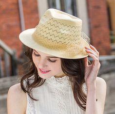 UV womens hollow panama hat fashion veil bow straw hat for beach