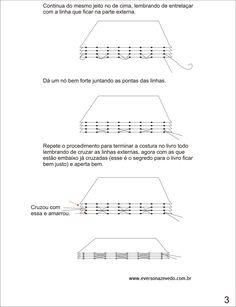 costura codex passo a passo - Pesquisa Google