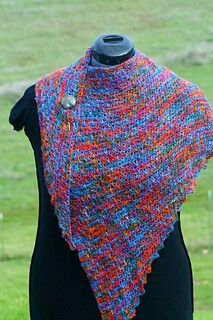 Coverse Shawl, knit version by Linda Dean