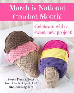 """March is National Crochet Month! How will you celebrate? Order a copy of """"Crochet Gifts to Go"""" here: http://www.anniescatalog.com/detail.html?prod_id=99643"""