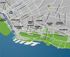 Buenos Aires neighborhood map
