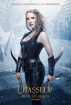 Jessica Chastain s'affiche pour Le Chasseur et La Reine des glaces