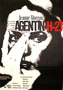 Mata Hari Agent H21 german movie poster. Jeanne Moreau. Art by Fritz Fischer