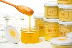Ghee Clarified Butter packaging on Behance