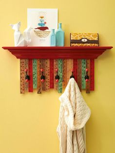 Your local flea market is riddled with yardsticks! Find the full how-to here: http://www.bhg.com/decorating/decorating-style/flea-market/flea-market-makeovers/?socsrc=bhgpin011015yardstickcoatrack&page=5
