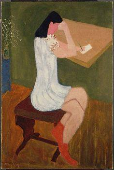 Girl Writing /Milton Avery : 네이버 카페
