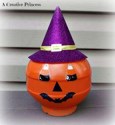 A Creative Princess: Happy Halloween Tree & Pumpkin Bottle