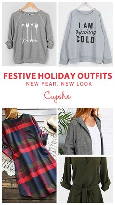Start from $21.99-Festive Holiday Sale!  Free shipping & Easy Return + Refund! Fresh to new-in Christmas outfits to complete a chic & stylish look. They are perfection for winter wardrobe. Collect and Shop all at Cupshe.com