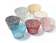 120 White Vine Filigree Laser Cut Lace Cupcake Wrapper Wraps Liner Wedding Party Cake Decoartion: Amazon.ca: Home & Kitchen