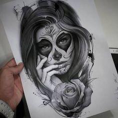 Afbeeldingsresultaat voor tattoo catrina