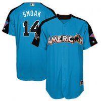 American League Blue Jays Justin Smoak Majestic Blue 2017 MLB Al