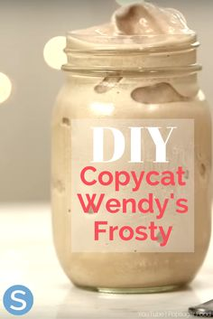 How To Make A Copycat Wendy's Frosty At Home With Only 3 Ingredients - - It's as easy as — you can make a Wendy's Frosty in your own home! Its silky smooth texture is a classic staple for the millions of Wendy's customers each year. Frozen Drink Recipes, Milkshake Recipes, Frozen Drinks, Frozen Desserts, Fun Desserts, Smoothie Recipes, Milkshakes, Easy Recipes For Desserts, Protein Smoothies