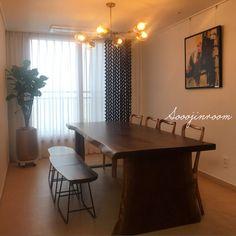 온라인집들이2탄:) 다이닝룸/알파룸/카페방편(feat.오션뷰) : 네이버 블로그 Dining Area, Dining Room, Dining Table, Sweet Home, Interior, Furniture, Home Decor, Space, Home Interiors
