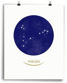 Pisces • Stars Print
