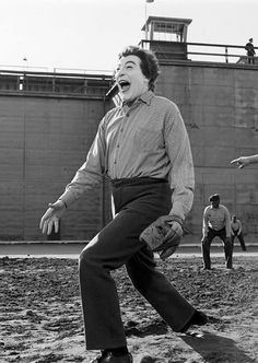 The Joker can play ball. In this prison, this black and white gallery fine art print shows a laughing Cesar Romero just after he pitches the ball and just before he escapes. The Joker Goes Wild, Batman 1966, Im Batman, Batman Robin, Batman Cast, Superman, Batman Tv Show, Batman Tv Series, Dc Comics, Burt Ward