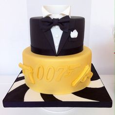 James Bond Cake - by BellasBakery @ CakesDecor.com - cake decorating website