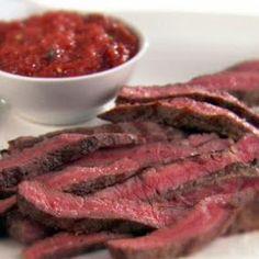 Rib-Eye Steaks with Smokey Arrabiata Sauce #smoked #steak