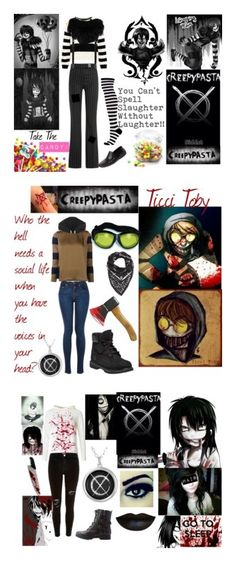"""Creepypasta"" by annabethpercy ❤ liked on Polyvore featuring arte e creepypasta"