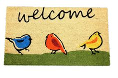 Home Garden Hardware 30444 Wecome Birds Printed Coir Doormat,Natural,Small >>> You can get additional details at the image link. (This is an affiliate link and I receive a commission for the sales)