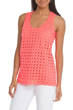 Rain Texture Tank in Pink - Beyond the Rack
