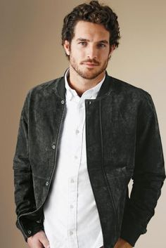 Zamora Leather Jkt-Carbon 2 Cobalt | Hubbs Be Stylin' | Pinterest ...