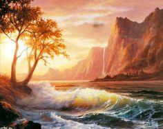 пейзаж, утренний рассвет на побережье, Anthony Casay 1280x1024